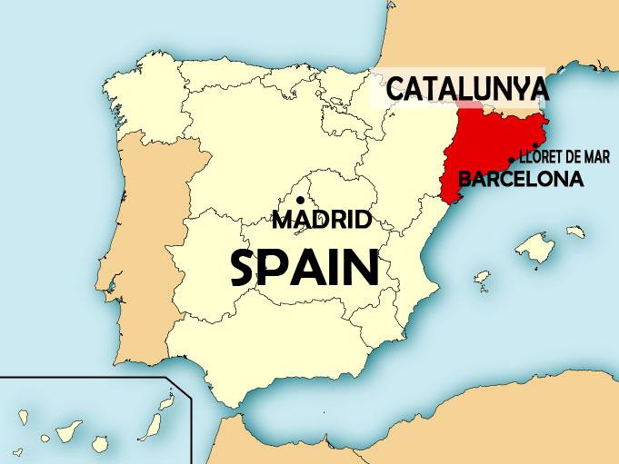 Katalunya zemelapis